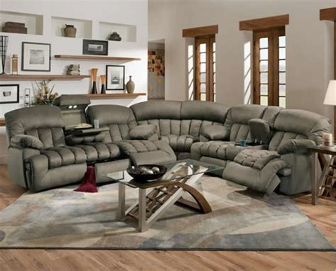 jacob leather sectional sofa with recliners plushemisphere