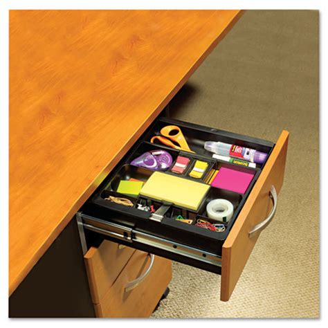 Desk Drawer Organization Recycled Plastic Desk Drawer Organizer Tray Plastic Black Office And Computer Products
