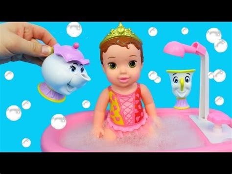 baby dolls that can go in the bathtub disney princess belle baby doll bath time bathtub color