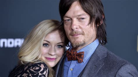 are walking dead stars norman reedus and emily kinney the walking dead season 5 norman reedus and emily
