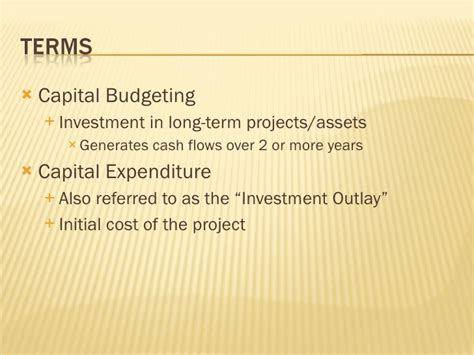 Capital Budgeting Techniques Mba Notes by Capital Budgeting Flow Estimation
