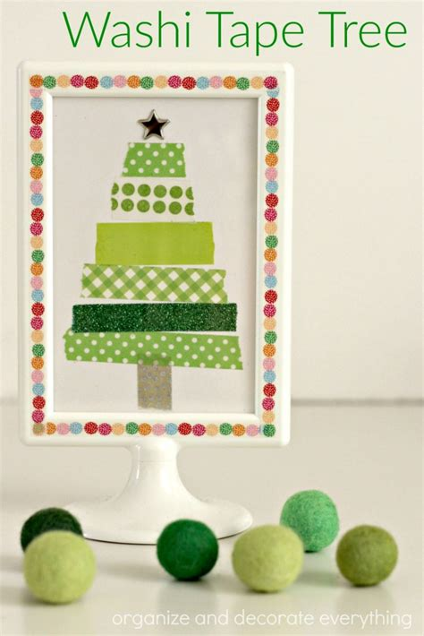 washi tape christmas craft washi tree organize and decorate everything