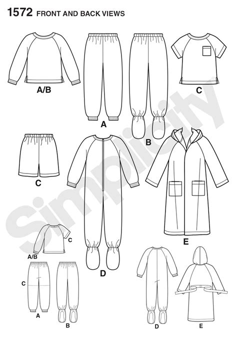 pattern review simplicity 2255 simplicity 1572 toddlers and child s sleepwear and robe