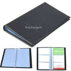 business card holder folder black pu leather 120 business name card holder book wallet