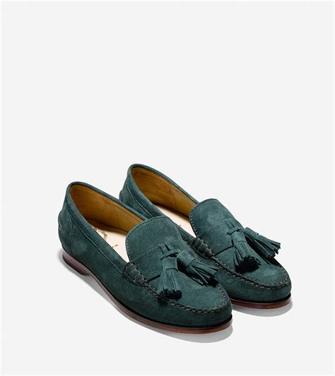 tassle loafer lyst cole haan s pinch grand tassel loafer in green
