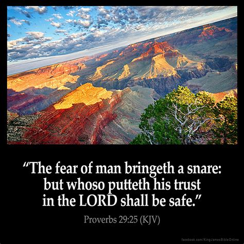 proverbs 29 25 inspirational image
