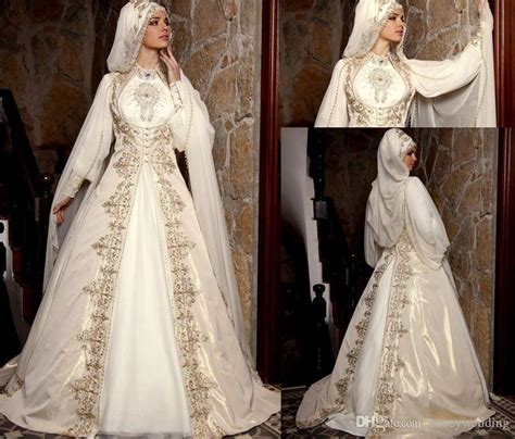Modest Clothing 2015 Arabic Muslim Wedding Dresses With