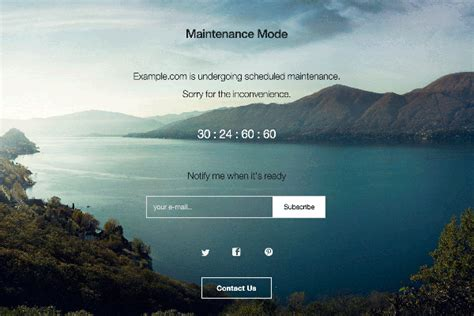 maintenance mode html template 5 tools for creating a maintenance mode or