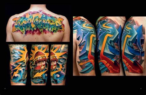 tattoo back murals arm lettering back murals tattoo by freihand tattoo
