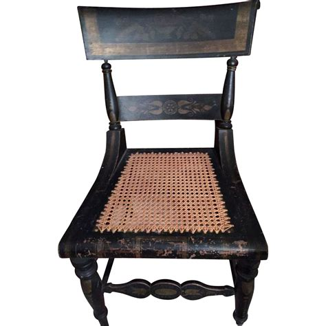 hitchcock bench for sale a pr of original antique hitchcock chair w stenciling