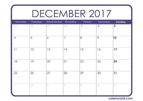 printable december 2017 calendar waterproof december 2017 large calendar calendar 2018 printable