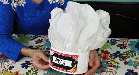 How To Make A Chef Hat Out Of Construction Paper - chef activities birthday pbs