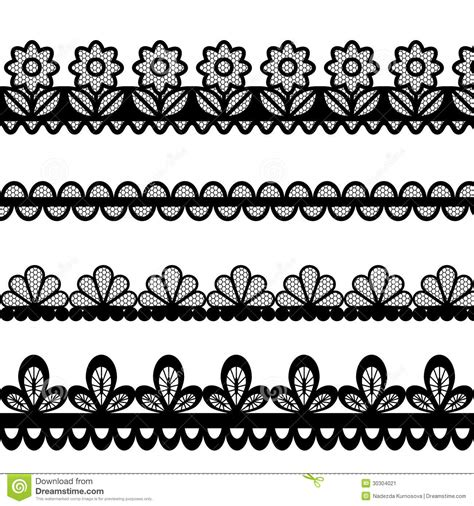 eps format borders set of lace vector borders stock image image 30304021