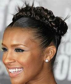 pics of black pretty big hair buns with added hair braid bun hairstyles for black women with straight hair
