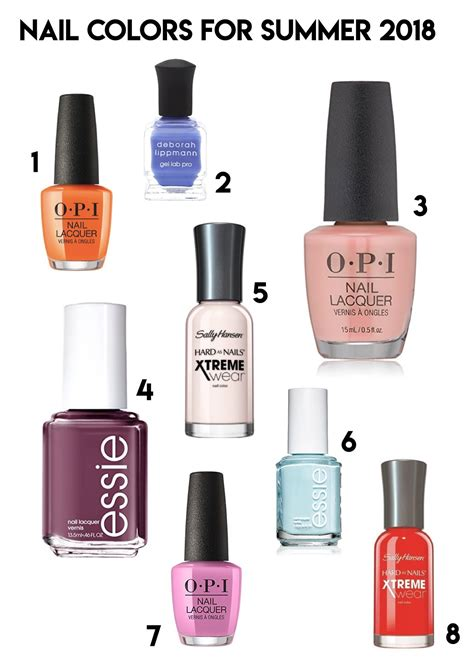 best summer nail colors nail colors for summer 8 shades picked by bumble and bustle