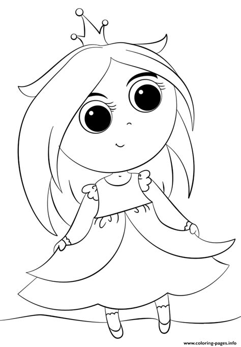 coloring pages cute princess cute little princess kawaii coloring pages printable
