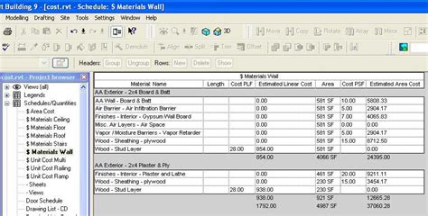 Calculate House Square Footage by Revit Beginners August 2006