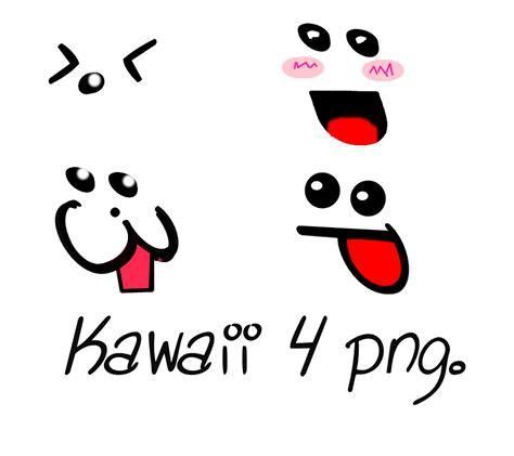 imagenes de caritas kawaii kawaii 4 caras png by rochiedtions on deviantart