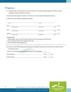 Custody Agreement Sle by Parental Agreement Contract Free Printable Documents