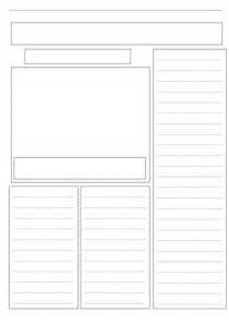 Writing Newspaper Reports Ks2 Template by A Blank Newspaper Template By Ljj290488 Teaching Resources Tes