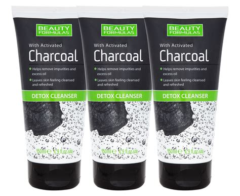 Charcoal Detox Wash by 3 X Formulas Activated Charcoal Detox Cleanser