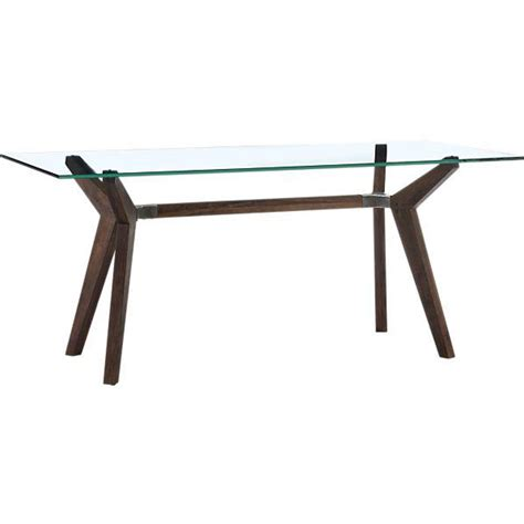 Crate And Barrel Glass Dining Table Strut Dining Table I Crate And Barrel