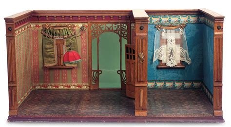 doll house rooms echoes of remembered rooms volume i 51 german wooden dollhouse room box with art