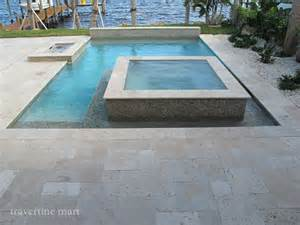 Outdoor Patio Furniture Miami Ivory Tumbled Travertine Pool Deck Tiles And Pavers