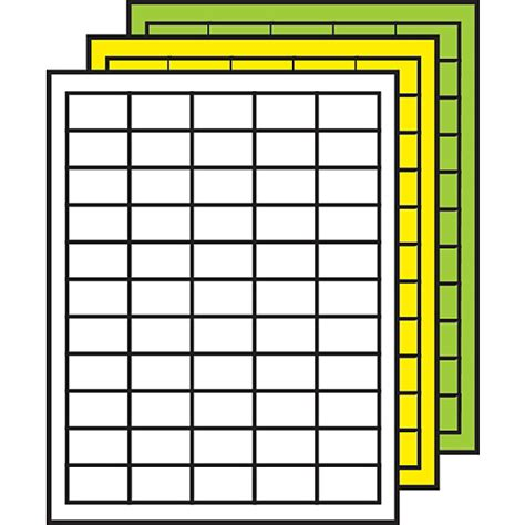 Demco Label Templates demco 174 colored multipurpose processing labels 29 32 quot x 1 1