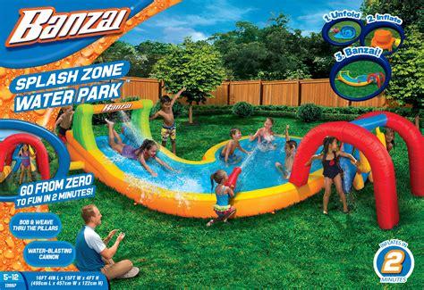 backyard splash park waterslides at outdoor realm