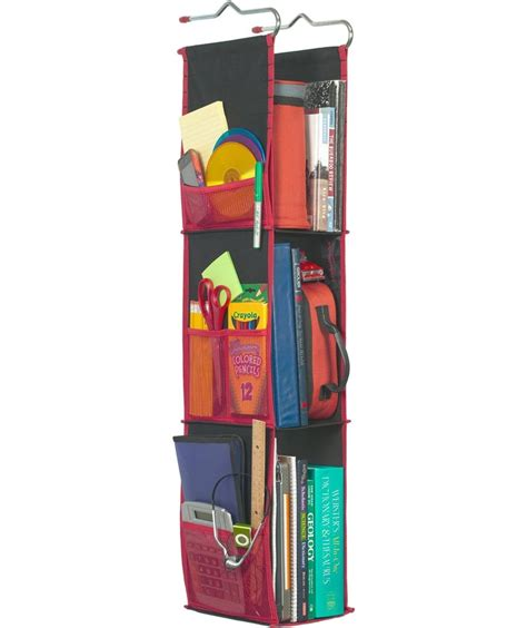 hanging locker organizer black in locker organizers