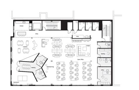 cool office floor plans fine modernas oficinas