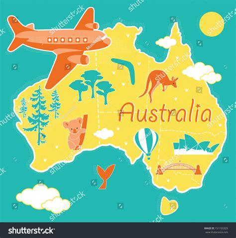 picture of map of australia map australia stock vector 151155329