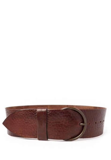 riccardo forconi wide belt in brown santa fe goods