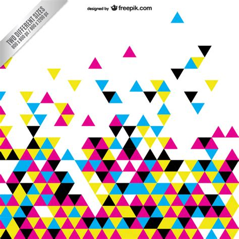 new year cmyk cmyk abstract background with colorful triangles vector