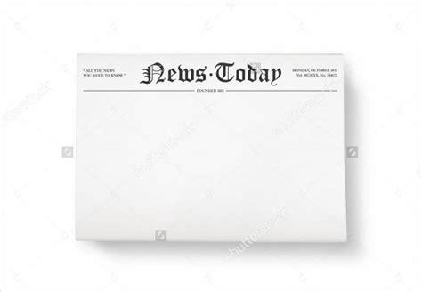 Newspaper Header Template