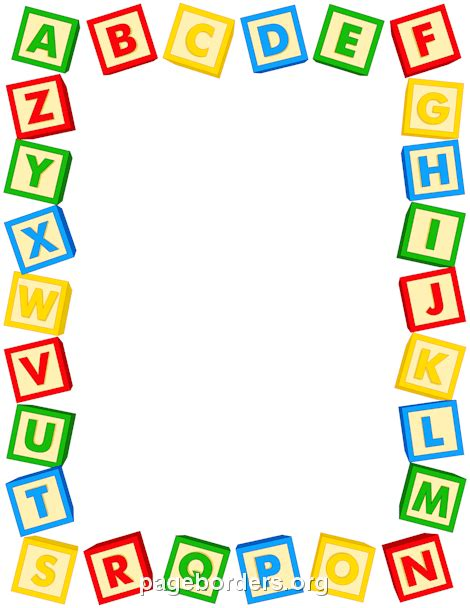 printable alphabet letters clip art alphabet blocks border yaniry pinterest alphabet
