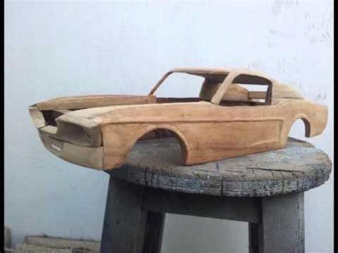 maqueta ford mustang 1967 shelby escala en madera parte 1