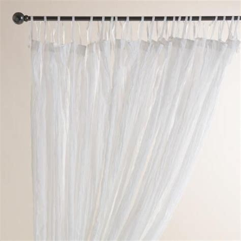 white crinkle sheer curtains 1000 ideas about world market curtains on pinterest