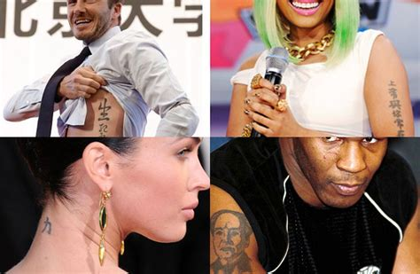 embarrassing celebrity chinese tattoos 26 famous celebs with chinese tattoos thatsmags com
