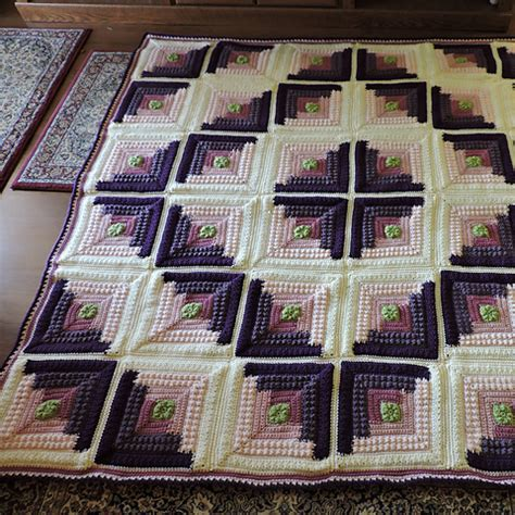 net logging pattern free pattern autumn log cabin throw leisureboom
