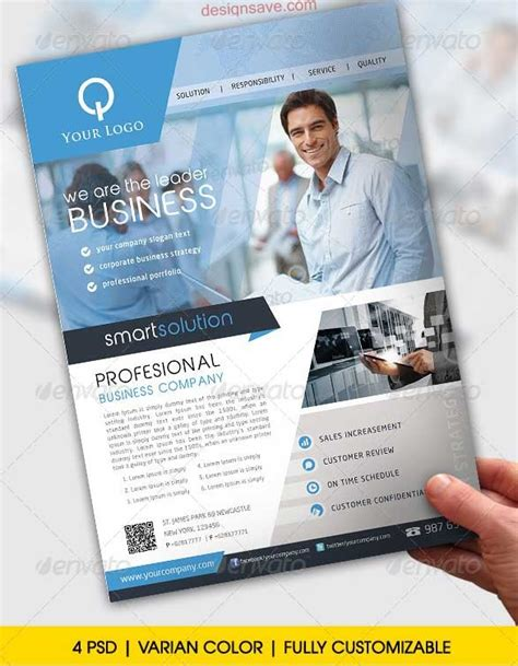 Custom Flyer Templates 40 best premium psd business flyer templates designsave