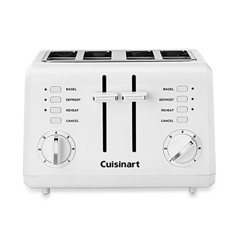 bed bath beyond toaster cuisinart 174 white compact cool touch 4 slice toaster bed