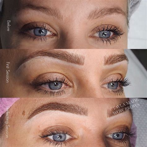 tattoo eyebrows natural hair stroke feather touch microblading microstroke