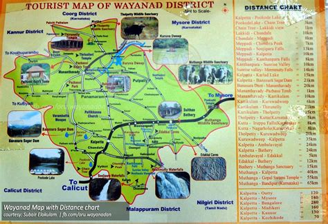 tourist map of amaizing wayanad tourism tourist map of wayanad