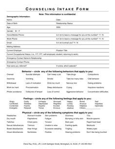 This Printable Mental Health Intake Form Can Help Diagnose Disorders By Providing Patients Psychiatric Intake Form Template