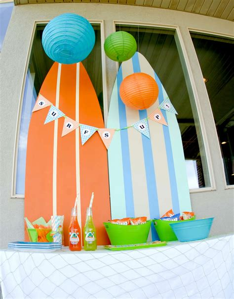 surf decoration kara s ideas surf s up summer pool kara s