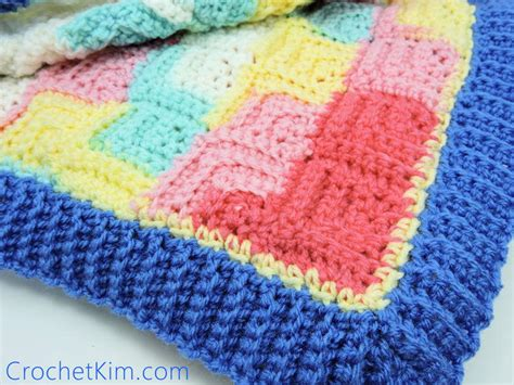 Easy Patchwork Blanket - patchwork baby blanket allfreecrochet