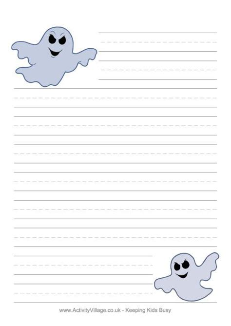 printable paper ghost halloween writing paper ghosts printables pinterest