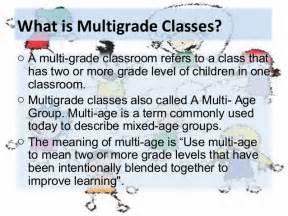 multi class multi grade class